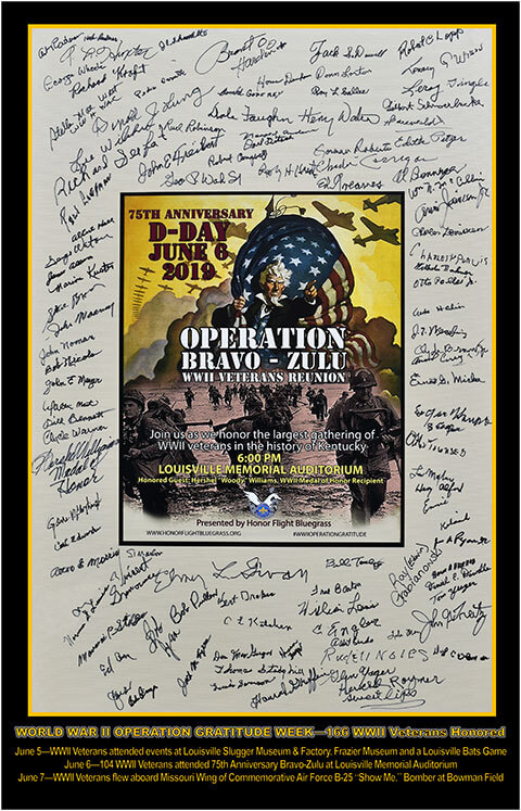 75th D-Day Operation Bravo Zulu Poster (Signed)