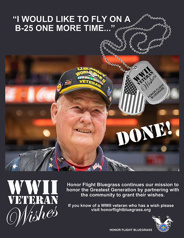 WWII Veteran Wishes Flyer